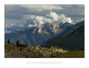 View from passo di Valparola