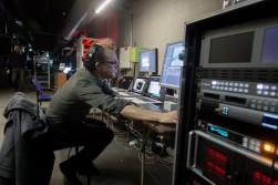 .. en ook stress in de controlekamer (foto: Adriaan Devillé)
